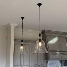 Kitchen Pendent Lighting fancy glass bell shaped pendant light 59 for tubular pendant light