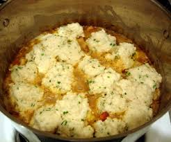 chicken fricassee with chive dumplings drick u0027s rambling cafe