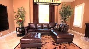 Costco Living Room Brown Leather Chairs Encore Top Grain Leather Sectional And Ottoman Video Gallery