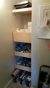 Kitchen Cabinets With Pull Out Shelves by Best 25 Shelves That Slide Ideas On Pinterest Bathroom Under