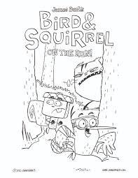 bird and squirrel coloring sheet u2014 james burks