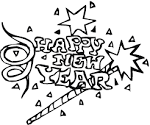 Free Printable Coloring Page....Happy New Year! friendsacrossamerica.com