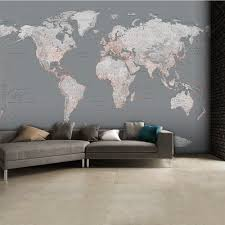 silver grey world map feature wall wallpaper mural 315cm x 232cm