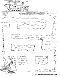 coloring pirate maze page create a printout or activity