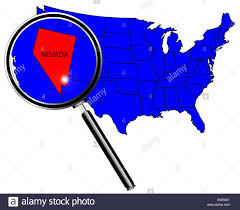 A Map Of America by Nevada State Outline Set Into A Map Of The United States Of