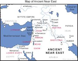Exodus Route Map by Map Of The Ancient Near East Bible History Online