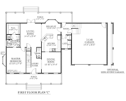 Two Car Garage Size by Front Bed 4 Bath 2 Story 2 Story Polebarn House Plans Two Story