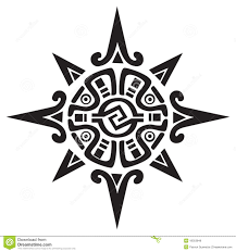 mayan or incan symbol of a sun or star royalty free stock image