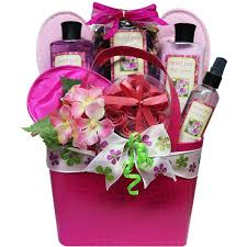 tickled pink peony floral spa bath and body gift basket amazon
