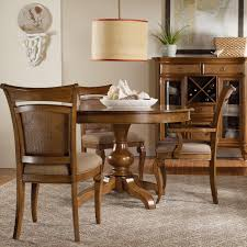hooker furniture windward pedestal dining table u0026 raffia chairs