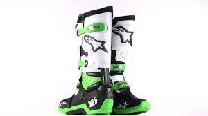green motocross boots alpinestars tech 10 boots 360 green youtube