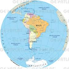 Caribbean Sea On Map by Geoatlas Globes South America Map City Illustrator Fully
