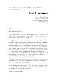 Full Charge Bookkeeper Cover Letter Sample Child Care Cover Letter For Resume Http Www Resumecareer Info