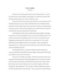 literary response essay