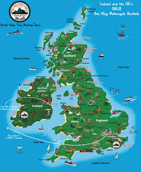 Map Of Ireland And England Ireland To Uk One Way Motorcycle Rentals