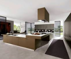 kitchen black wood table red wall black modern kitchen cabinets