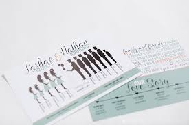 Wedding Invitation Tips  amp  Trends   Iowa     s Corridor Wedding Guide Silhouette   Ceremony program with a bridal party silhouette