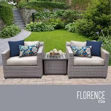 Resin Wicker Patio Furniture Sets - tk classics florence 3 piece outdoor wicker patio furniture set 03a