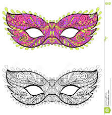 bohemian festive masks set decorative vector carnival elements