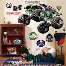 grave digger monster truck song amazon com monster jam room decor grave digger giant wall