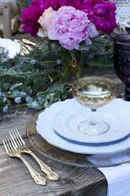 romantic holiday table setting french country cottage