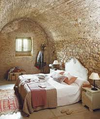 italian farmhouse small bedroom with traditional decorating