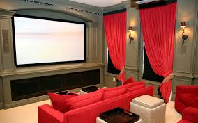 movie theater home alluring modern entertainment room with green sectional couch