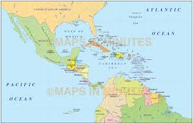 Map Of Western Caribbean by Political Map Of Central America Adriftskateshop