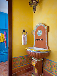 Powder Room In French Southwestern Bathroom Design And Decor Hgtv Pictures Hgtv