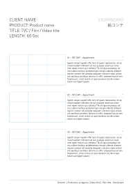 Movie Shot List Template Storyboard Templates Film Storyboards