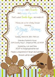 puppy theme baby shower invitations baby shower invitations