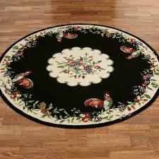 sonoma hand hooked rooster round rugs