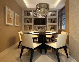 luxury dining room design with modern pendant light above round room luxury dining