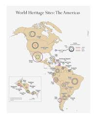 Spanish Speaking Countries Blank Map Quiz by List Of World Heritage Sites In The Americas Wikipedia