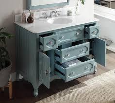Adelina  Inch Antique Cottage Bathroom Vanity Antique Blue - 48 bathroom vanity antique white