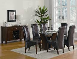 chair arhaus copper arabesque dining table and eight leather