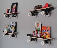 decorations cool skate unique wall mounted bookshelves decor