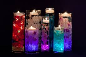 Purple Floating Candles For Centerpieces by Centerpieces With Led Lights And Floating Candles