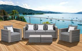 Wicker Outdoor Furniture Sets by Amazon Com Atlantic 5 Piece Mustang Wicker Conversation Set With