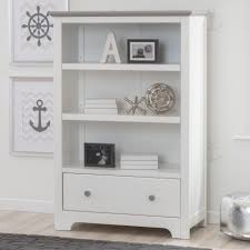 White Bookcase With Drawers by Delta Providence Bookcase With Drawer White And Textured Grey