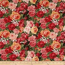 home sweet home packed roses multi discount designer fabric