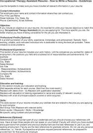 Therapist Resume Examples by Sample Occupational Therapy Resume Objectives Create