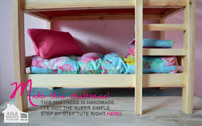 Plans For Building Bunk Beds by Ana White Doll Bunk Beds For American Doll And 18