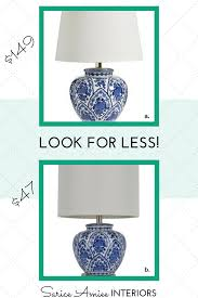 look for less vol vi blue and white table lamp u2014 sarice amiee