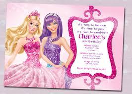 Create Invitation Card Free Barbie Birthday Invitation Card Free Printable Festival Tech Com