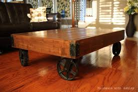 diy industrial factory cart coffee table plans by rogue engineer