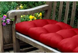 rounded back tufted sunbrella bench or glider cushion 46