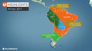 Map Of South America And Caribbean by 2017 South America Winter Forecast Drought To Worry Colombia