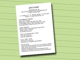sample of special skills in resume how to write a dance resume with sample resume wikihow