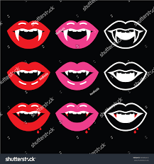 vampire fangs spirit halloween vampire mouth vampire teeth icons on stock vector 220292212